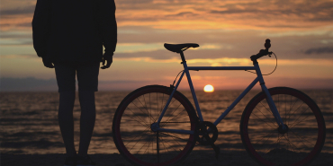 A bike and sunset